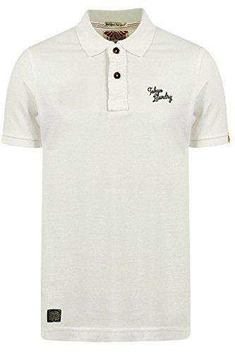 Herren Tokyo Laundry Rochester Freizeit Pique Polo Hemden Elfenbein - Nicht-gerade Weiss