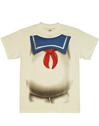 Ghostbusters T-Shirt, Mens Officially Licensed Stay Puft Costume, Off-White, X-Large, Chest 46 - 48'