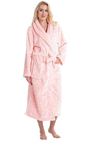 Aibrou pyjama femme polaire Robe peignoir pas cher personnalisé robe chambre homme longue Hiver Étoile rose