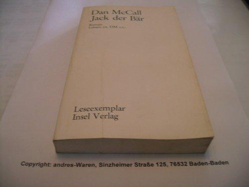 Jack der Bär. Roman. Aus dem Amerikanischen von Harry Rowohlt. OLnbd. 1. Auflg. - 207 S. (pages) -