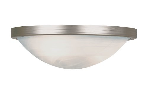 Trans Globe Lighting PL-6213 BN 1-Light Flush-Mount, Brushed Nickel by Trans Globe Lighting