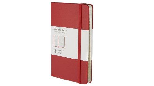 Moleskine Adressbuch Pocket, Hardcover, rot