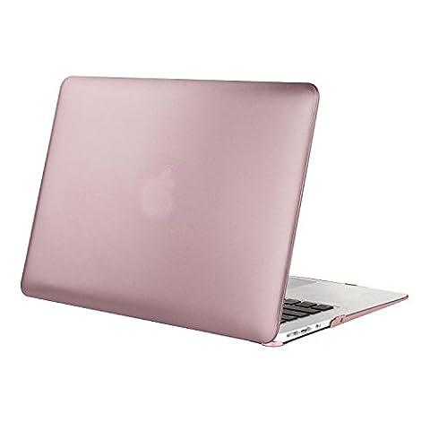 MOSISO Ultra Slim Coque Rigide Housse en plastique Snap pour MacBook Air 11 pouces (Modèles: A1370 et A1465), Or rose