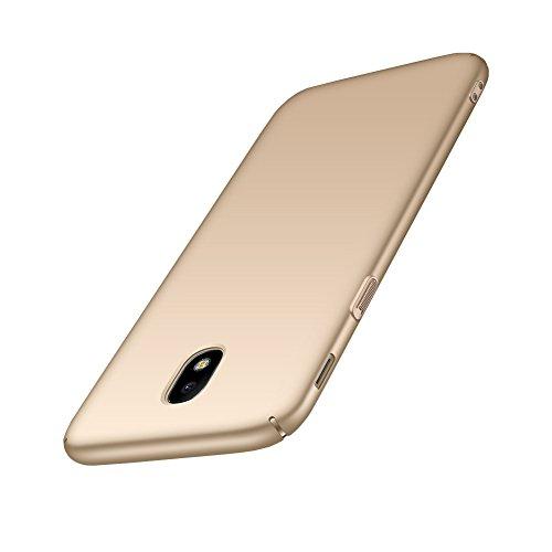 Aostar Samsung Galaxy J7 2017 Hülle, Ultra Dünn Hart-PC Bumper Case Schale Rückschale Handyhülle Schutzhülle für Samsung Galaxy J7 2017 J730, Gold