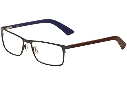 Puma Men's Eyeglasses PU 0027O 0027/O 003 Blue/Red Full Rim Optical Frame 55mm