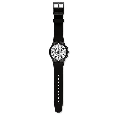 Reloj Swatch SUSB401 de cuarzo unisex con correa de silicona, color negro de Swatch