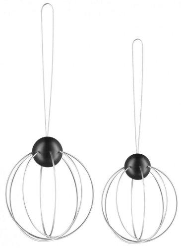 Eva Solo EV571033 Meisenknödelhalter, 2er Set, Mit Aufhänger, Durchmesser 8 cm, Edelstahl/schwarz