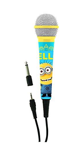 Lexibook Mikrofon Universal Ich Einfach Unverbesserlich Minions, 3, 5 Jack und 6, 3 mm Adapter, Hohe Empfindlichkeit, mit Kindern oder mit Freunden zu Singen, Blau, MIC100DES