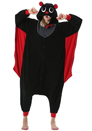 Pigiama anime cosplay halloween costume attrezzatura adulto animale onesie unisex, pipistrello per altezze da 140 a 187 cm