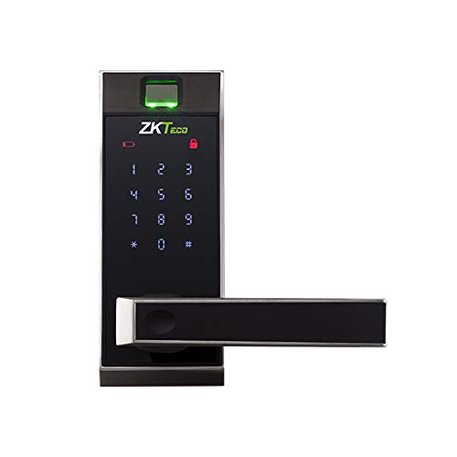 ZKTeco AL20DB Cerradura de puerta con huella cerradura electrónica, biométrica e inteligente con Bluetooth Smart Lock