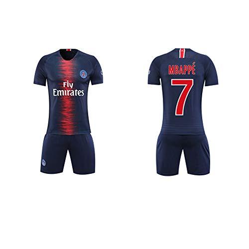 Fútbol Club Barcelona Heimfeld Mbappe 7# Neymar JR 10# Jungen Mädchen Kinder Erwachsene Männer Frauen Jersey Fußball Fußball Shorts Top Vest Kit-7-XXL -