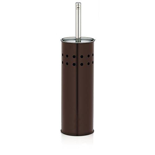 Kela 22522 WC-Bürste und Behälter, WC-Garnitur, Metall, Choco, Braun