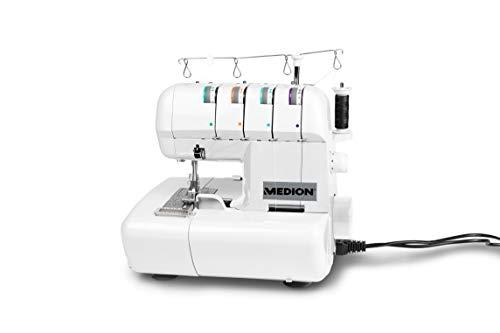 MEDION MD14302 Machine à Coudre Surjeteuse Coque Plastique,...