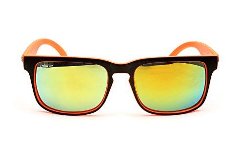 Catania-Occhiali-Gafas-de-Sol-Modelo-Wayfarer-Vintage-Classic-Gafas-Unisex-Cristales-U400-UVA-UVB-Incluye-Toallita-de-Limpieza
