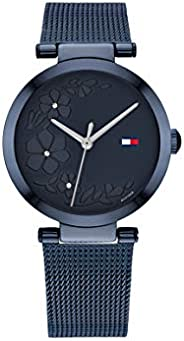 Tommy Hilfiger Women'S Blue Dial Ionic Plated Blue Steel Watch - 178