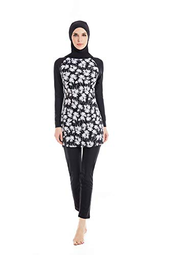 c970cb8ace nadamuSun Modest Muslim Swimwear Islamic Swimsuit for Women Hijab Swimwear  Full Coverage Swimwear Muslim Swimming Beachwear Swim Suit. Apparel