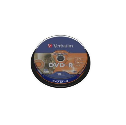 Verbatim DVD-R Rohlinge (16x Speed, 4,7 GB Lightscribe, 10-er Spindel)