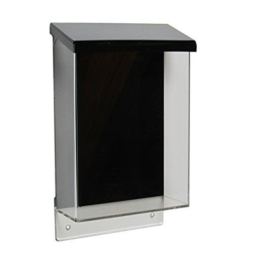 DIN A5 Prospektbox / Prospekthalter / Flyerhalter im Hochformat, wetterfest, für Außen, mit Deckel, aus Acrylglas / Plexiglas®