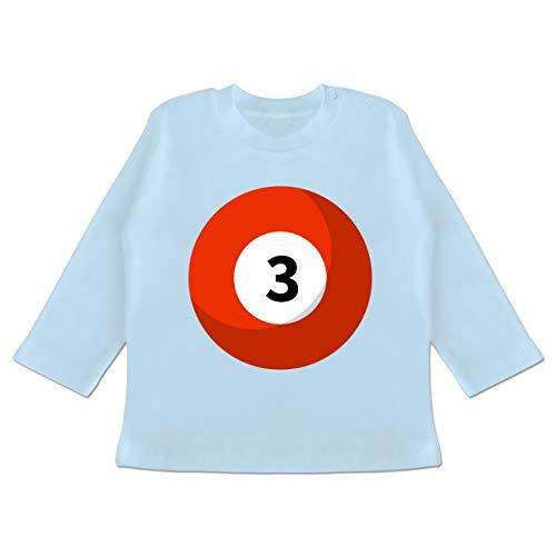Karneval und Fasching Baby - Billardkugel 3 Kostüm - 3/6 Monate - Babyblau - BZ11 - Baby T-Shirt Langarm