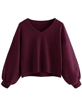 Amphia Sudadera Tumblr Tumblr, Sudadera Mujer Corta-Camiseta Mujeres Tops Manga Larga Sudadera-Mujer Blusa Tops...