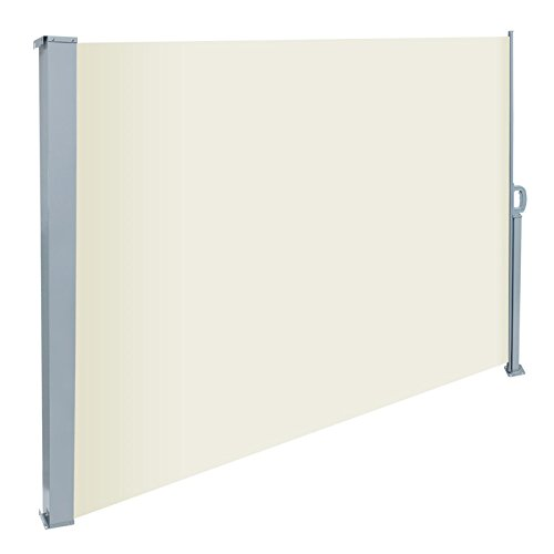 ecd-germany-160-x-300-cm-beige-polyester-sidewall-awning-sun-protection-windshile-included-mounting-