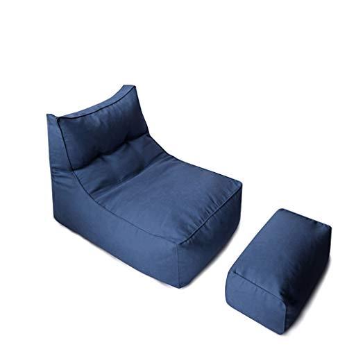 Sitzsack Mit Hocker Rechteckigen Faulen Sofa Kinder Hohe Rückenlehne Arbeitszimmer Kühlen Geeignet Für Spielzeug Lagerung Licht Sofa lI (Color : Navy) -