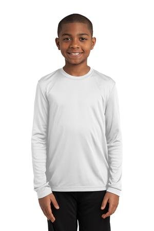 Sport-Tek® Youth Long Sleeve PosiCharge® Competitor™ Tee. YST350LS White XL