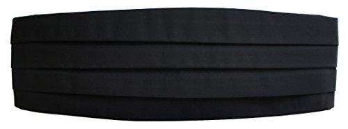 Graines de première qualité Noir Barathea Cummerbund Barathea soie Noir