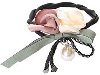 Duttmacher für Pferdeschwanz, mit Rosen-Blumen, 4 Stück