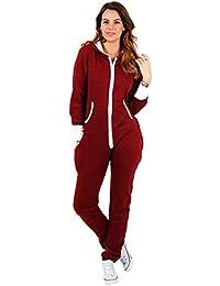 000b4dcf53bc10 Damen Jumpsuit Fleece Schlafanzug Frau Traininganzug Onesie Schönes  elegente Playsuit Damen…
