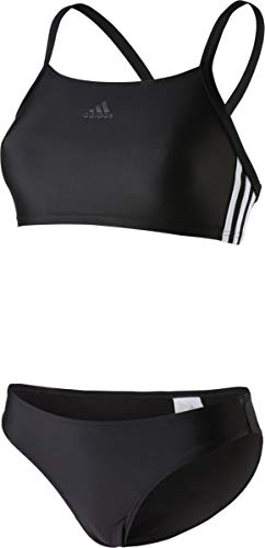 adidas Damen Bikini Infinitex 3-Streifen 2 Piece Sporty Black/White, 38