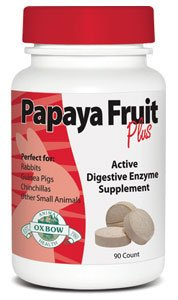 Oxbow PAPAYA FRUIT PLUS Digestive Enzyme For Guinea Pigs Rabbits 90 Tablets
