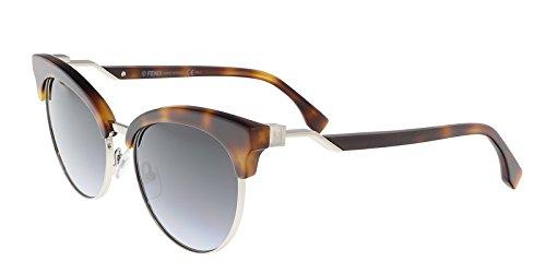 Fendi Damen FF 0229/S GB 086 Sonnenbrille, Braun (Dark Havana/Grey Azure), 55