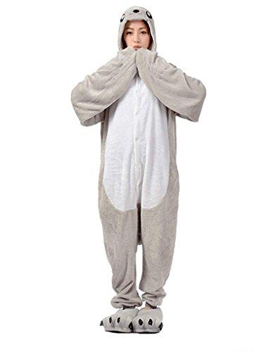 Imagen de abyed kigurumi pijamas unisexo adulto traje disfraz adulto animal pyjamas,león marino adulto talla xl para altura 175 183cm