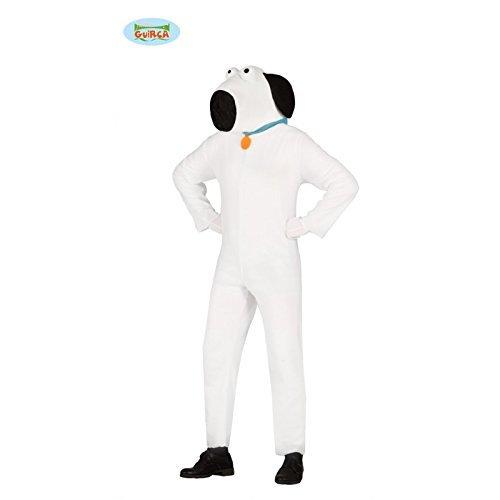 l Fasching Tier Motto Party Kostüm für Erwachsene Weiß Gr. M - L, Größe:L (Hund Halloween Kostüm Video)