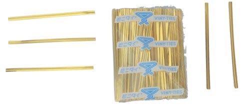 tach-it 10,2cm X 5/81,3cm Gold Metallic auf Twist Krawatte Länge geschnitten (500Stück), Pack of 500, gold, 500 -