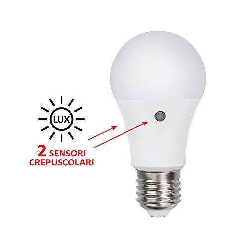 Classica Led 230V 9.5W Naturale Sensore Crepuscolare