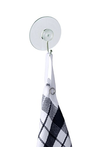 Wenko Praktisches 4er-Set Saughaken aus Nickel und weißem Kunststoff