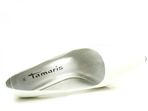Tamaris 22447, Scarpe con Tacco Donna Weiß