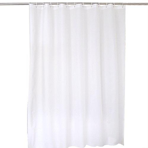 Rideaux de douche Salle de bains imperméable matérielle imperméable de rideau en PEVA de douche accrochant le blanc pur facile à nettoyer Durable (taille : 180×200CM)