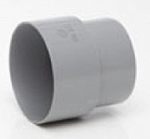 GREY gutter 50mm ROUND DOWNPIPE CONNECTOR for shed, conservatory, porch etc to suit 75mm mini guttering