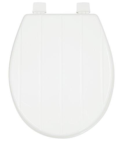 Croydex Windemere, Ruhe WC-Sitz, Holz, Weiß, 46,5x 36,5x 6cm