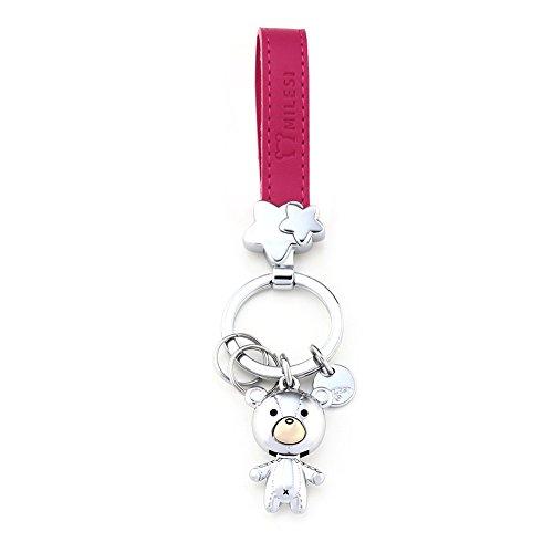 Milesi Charming Metall Tuch Bär Liebhaber dekorativ Schlüsselanhänger Valentinstag Geschenk Halloween Geschenk Small Red Sliver
