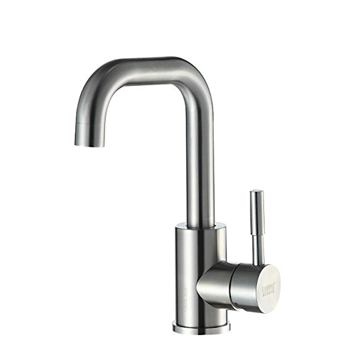Acciaio inox 304 lavabo rubinetto, caldo e freddo, bacino singolo (Fusioni Freddo Bronzo)