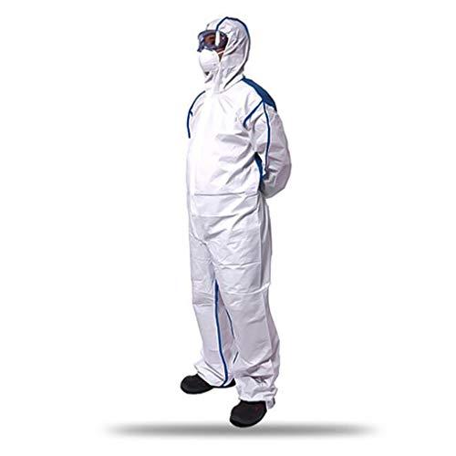 CF DE Chemieschutzkleidung Mit Kapuze, coolem Anti-Staub- und Flüssigkeitsspritzer ESD-Schutzkleidung (Size : M)