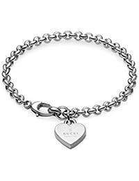 02c628b08 GUCCI TRADEMARK Heart pendent silver bracelet cm 18 YBA3562100018