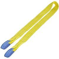 Wadra-Hebeband 3000 kg Tragkraft, 3 m Länge, mit verstärkten Endschlaufen, gelb