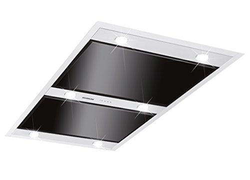 SILVERLINE Vega Intern Premium VGID 104.1 S / Deckenhaube / Edelstahl/Glas/Schwarz / 100 cm / A