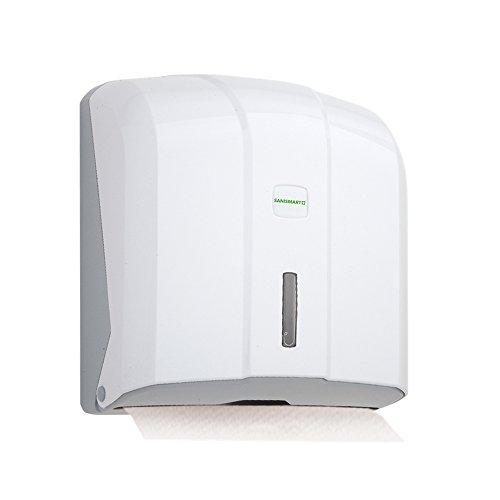 Sani Smart Florence–Dispensador de toallas para 400hojas C & V de pliege Max. 25cm, Weiß