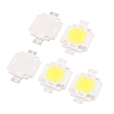 sourcingmap® 5 Stk 30-34V 10W LED Chip Birne weiß Super Helligkeit Hochleistung für Scheinwerfer